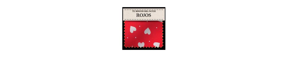 Telas baratas de patchwork rojas. turincondelpatch.com