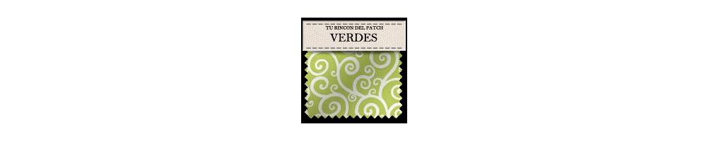 Telas económicas de patchwork en color  verde. turincondelpatch.com