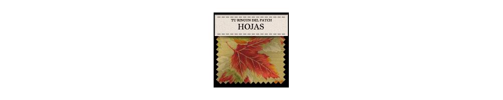 Telas baratas de patchwork con dibujos de hojas. turincondelpatch.com